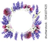 wildflower lavender flower... | Shutterstock . vector #534107425