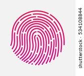 circle touch fingerprint id app ... | Shutterstock . vector #534108844