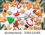 christmas cookies with festive... | Shutterstock . vector #534113185
