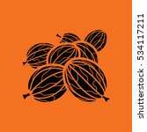 gooseberry icon. orange... | Shutterstock .eps vector #534117211