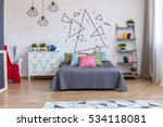 bright bedroom area with... | Shutterstock . vector #534118081