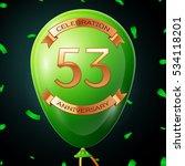 green balloon with golden... | Shutterstock .eps vector #534118201