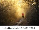 young runner run in orange... | Shutterstock . vector #534118981