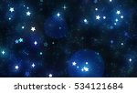 particles in the outer space.... | Shutterstock . vector #534121684