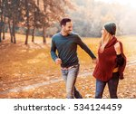 couple in love running through... | Shutterstock . vector #534124459