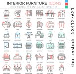 vector interior furniture color ... | Shutterstock .eps vector #534127621