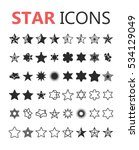 simple modern set of star icons.... | Shutterstock .eps vector #534129049