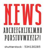 narrow slab serif font.... | Shutterstock .eps vector #534130285