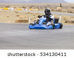 adult kart racer on track | Shutterstock . vector #534130411