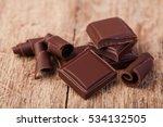 pieces of natural dark... | Shutterstock . vector #534132505