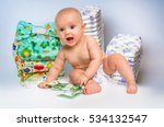cute baby with money isolated... | Shutterstock . vector #534132547