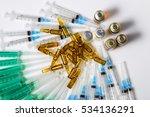 stock of 5 ml 3 ml medical... | Shutterstock . vector #534136291