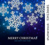 christmas banner with glowing... | Shutterstock .eps vector #534136681