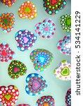 wedding card   colorful heart...   Shutterstock . vector #534141229