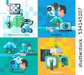 artificial intelligence concept ... | Shutterstock . vector #534145207
