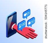 isometric vector cell phone... | Shutterstock .eps vector #534145771
