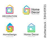vector logo design. home decor  ... | Shutterstock .eps vector #534145921