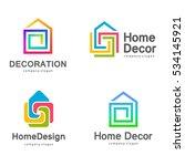 vector logo design. home decor  ... | Shutterstock .eps vector #534145921