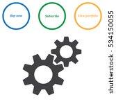 gear icon vector flat design... | Shutterstock .eps vector #534150055