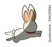 cute rabbit character kawaii... | Shutterstock .eps vector #534150061