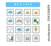 colored flat weather's icons | Shutterstock .eps vector #534150859
