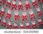 group of santa claus  christmas ... | Shutterstock . vector #534150985