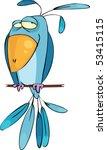 blue bird | Shutterstock .eps vector #53415115