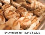 fresh wheat bread on shelf in... | Shutterstock . vector #534151321