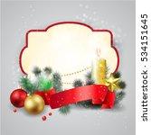 christmas frame background | Shutterstock .eps vector #534151645