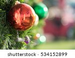 christmas colorful ball... | Shutterstock . vector #534152899