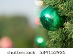 christmas colorful ball... | Shutterstock . vector #534152935