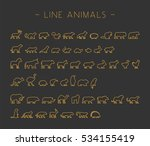 vector gold set of line... | Shutterstock .eps vector #534155419