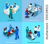 doctor patient isometric icon... | Shutterstock . vector #534158521