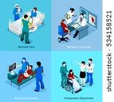 doctor patient isometric icon... | Shutterstock . vector #534158521
