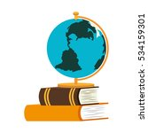 book school with planet earth... | Shutterstock .eps vector #534159301