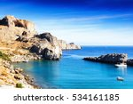 beautiful seascape  a top view... | Shutterstock . vector #534161185