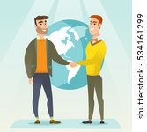two business partners shaking... | Shutterstock .eps vector #534161299