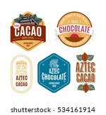 vector illustration aztec cacao ... | Shutterstock .eps vector #534161914