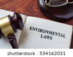 environmental law title on a... | Shutterstock . vector #534162031
