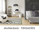 modern and spacious room with... | Shutterstock . vector #534162301