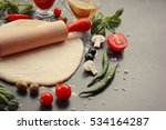 Raw Pizza Dough With...