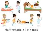 emergency doctors carrying man... | Shutterstock .eps vector #534164815