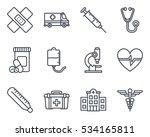 medicine icon line | Shutterstock .eps vector #534165811