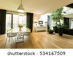 open spacious room with large... | Shutterstock . vector #534167509