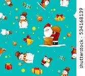 seamless pattern merry... | Shutterstock .eps vector #534168139
