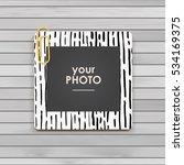 photo frame album template for... | Shutterstock .eps vector #534169375