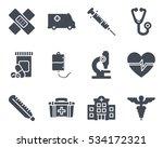 medicine icon solid silhouette | Shutterstock .eps vector #534172321