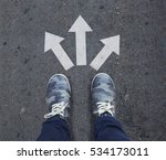 pair of shoes standing on a... | Shutterstock . vector #534173011