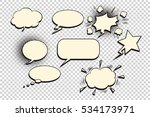 comics bubble set | Shutterstock . vector #534173971