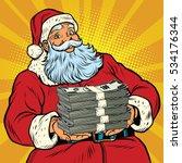 santa claus with money | Shutterstock . vector #534176344